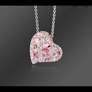 Swarovski heart necklaces, silver !